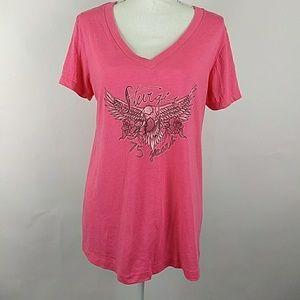 Sturgis 75th anniversary 2015 pink t-shirt XXL